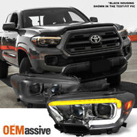 Fits 2016-2018 Tacoma TRD / Limited Sequential Smoked LED Projector Headlights