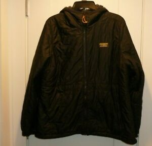 L.L. Bean Women's Black Quilted Reversible Hooded Winter Jacket Size XL