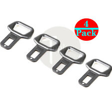 4pcs Universal Black Car Safety Seat Belt Buckle Alarm Stopper Clip Clamp