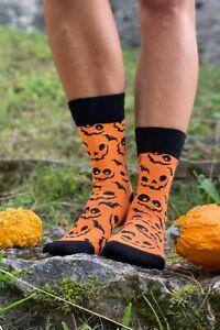 Halloween Pumpkin Socks (1 Pair) Pumpkin Face