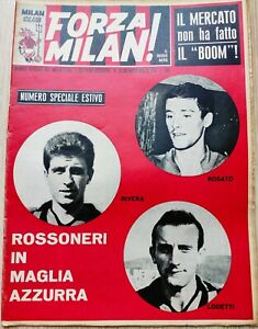 1966 FORZA MILAN ROSSONERI IN MAGLIA AZZURRA