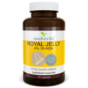 ROYAL JELLY Lyophilised 4% Extract 10-HDA - 120 caps / No fillers & binders