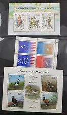 Ireland Eire Minisheet Collection inc Philanippon 91, Cycles, Olympic 92, Flora