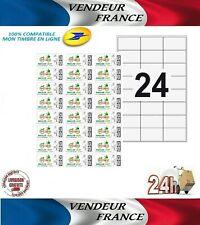 ⭐ 600 Etiquettes autocollantes timbre en ligne la poste (Ref Avery L7159) #08