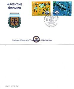 ARGENTINA 2004 FIRST DAY COVER FIFA Centennial FIFA OFFICAL COVER TWO STAMPS MNH