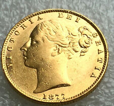 1877 syd  victoria  shield full  sovereign @ agd3