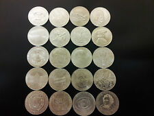 20 Silbermünzen 50 Schilling Österreich 1959 -1978 - kompletter Satz Eiamaya
