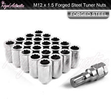 20 M12x1.5 Tuner Wheel Nuts Slim Internal Drive Mazda MX5 RX7 RX8 JDM Chrome