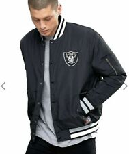 NFL Oakland Raiders Mens Small Insulated Bomber Jacket Coat Official Apparel