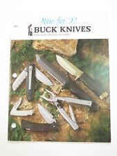 1996 Buck Dealer Knife Catalog Price List Book Fixed Folding 110 124 119