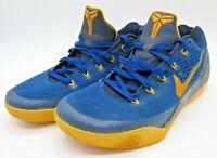 Nike Kobe 9 IX Gym Blue University Gold Yellow Men Size 10 Shoes Rare 646701-474