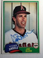 1981 Topps Jim Barr Autograph Angels Giants Auto Card #717 Signed