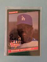 1986 Donruss Rookies #5 Reggie Williams SIGNED AUTO Autograph Dodgers