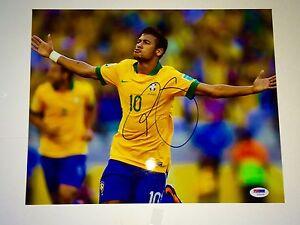 Neymar da Silva Santos Jr Hand Signed 11x14 Photo Brazil Olympics Gold PSA DNA