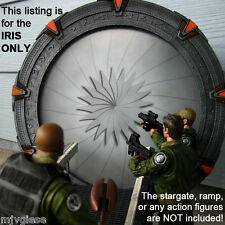 6.75 inch IRIS Photo Backdrop for a Stargate SG-1 Model Gate Close the Wormhole