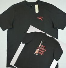 Tommy Bahama Relax TShirt Who Wants More Wine? Black Graphic Tee S NWT