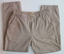 Woolrich 32x29 Khaki Flat Front Flannel Lined Chino Pants