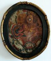 Guadameci - peinture Baroque 16 ou 17ème siècle - cadre d'époque 65x55- Espagne