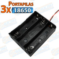 PORTAPILAS 3x 18650 3,7v cable alimentacion PCB bateria Battery holder