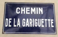 Antique French Street Sign Traditional Convex with Vitreous Enamel