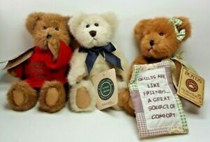 3 Boyds Bear ''Doin 'Witjout Dover B. Winsor And comfy Goodfriend 8'' Tall A12