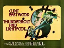 """THUNDERBOLT AND LIGHTFOOT 1974  repro UK quad poster 30x40"""" Clint Eastwood"""