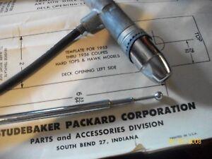 1953 -57  Studebaker Hawk Hard top Sport rear  antenna kit SINGLE   NOS in box