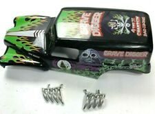 """New Bright Grave Digger Body Shell 1:10 Scale 15"""" Monster Jam Truck USED"""
