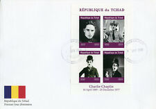 Chad 2019 FDC Charlie Chaplin Hitler 4v M/S Cover Actors Famous People Stamps