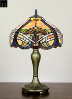 Winter Clearance Tiffany Baroque Stained Glass Bedside Table Lamp Art Leadlight