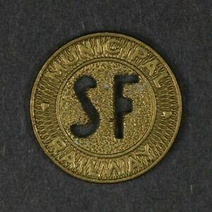 San Francisco Municipal Railway token, one fare