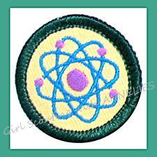 MAKING IT MATTER Girl Scout 2001 Jr. Jade BADGE Science Atoms Patch Multi=1 Ship