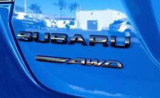 "NEW Genuine OEM Subaru Rear Badge Set  ""Subaru Symmetrical AWD"" Black Limited"