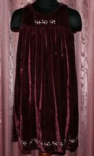 Pannesamt Kleid mit Satin Stickerei von name it ☺ Gr. 98 ☺ *TOP* ☺ bordeaux ☺