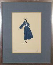 Erte Romain De Tirtoff (Russian French,1892-1990) Original Serigraph Print Rare