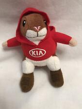 "New listing Kia Soul Mascot Hamster Red Hoodie 6"" Plush Seat Belt Buddy Stuffed Animal Toy"