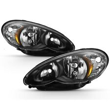 Fit Chrysler 06-10 PT Cruiser Black Housing Replacement Headlights Left + Right