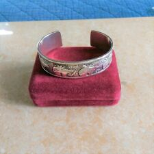 ~RMT~ Roderick Tenorio Relios 925 Sterling Silver Bear Cuff Bracelet