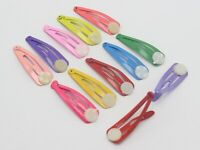 50 Mixed Color Mini Snap Hair Clips with glue pad 32mm Baby Bows Girls Hair Bows