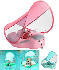 Kids Swimming Float Non Inflatable Swim Trainer Pool With Canopy Sun Shade Ring