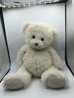 Official TY Inc 2007 White Teddy Bear Plush Kids Soft Stuffed Toy Animal Doll