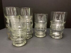 12 Monogrammed GLASSES 70s Vintage Barware 3 Sizes 5 7 & 9oz CAS Block Etched