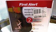 New First Alert Two-Story Fire Escape Ladder, Steel Anti-Slip El52-2 First Alert