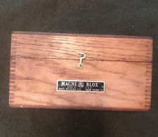 George Scherr Nyc Magne Blox Magnetic V Block Case Antique Machinist Box Only