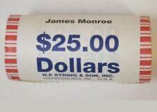 2008-D James Monroe Presidential Bank Wrapped Dollar 25 Coin ROLL UNC/BU