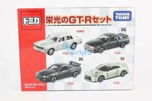 Takara Tomy Tomica Gift Box 4X SET Glory GT-R R32 R34 R35 PGC10 Diecast Toy Car