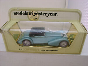 1978 MATCHBOX LESNEY MODELS OF YESTERYEAR 1:48 Y17 BL CHASSIS 1938 HISPANO SUIZA