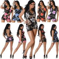 Top Women Clubbing Overalls Shorts Jumpsuit Ladies Party Playsuit Size 6 8 10