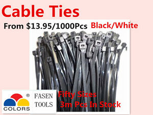Bulksale Nylon Cable Zip Ties  Black & White