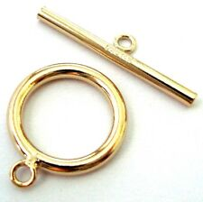 15mm large 14k yellow gold filled round plain tube toggle Clasp made in USA GT25